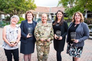 2019 Women of Distinction Awardees (left to right): Eve Vigil, DJ Pittenger, Simone Hosey, Janet Wallace and Jessica Lorrance.
